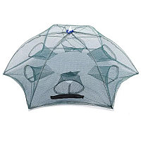 Рыболовный верша-паук  Ловушка для рыбалки раскладной зонтик с шестью входами, фото 1