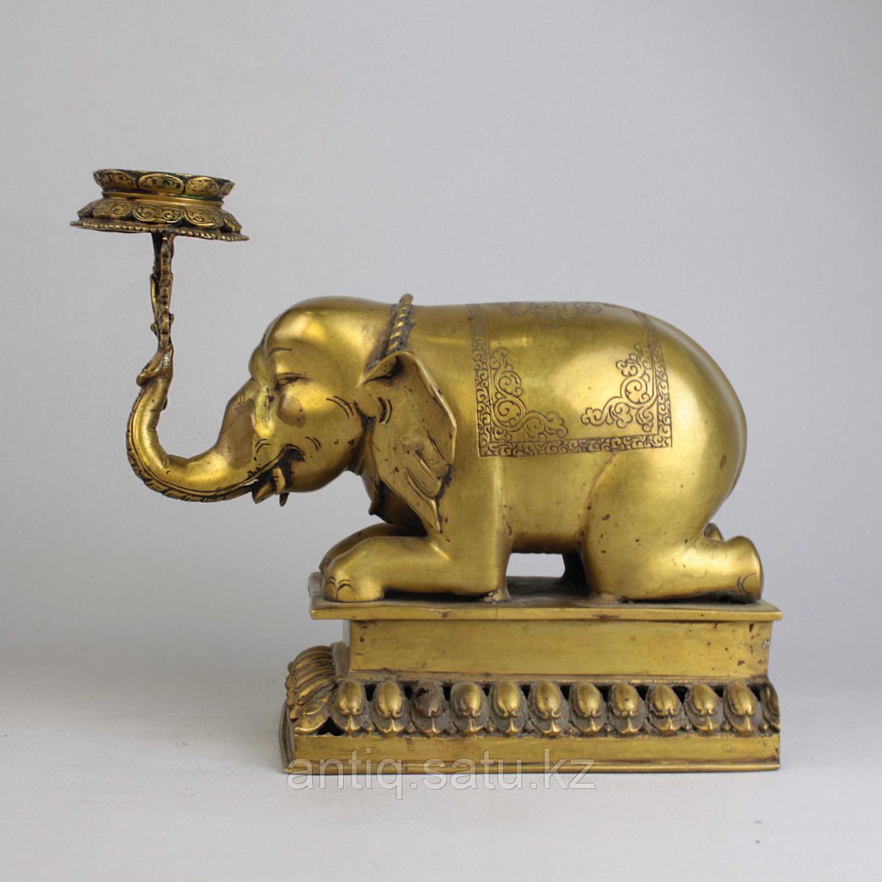"""Пара подсвечников """"Слоны"""" Британская Индия - фото 3"""