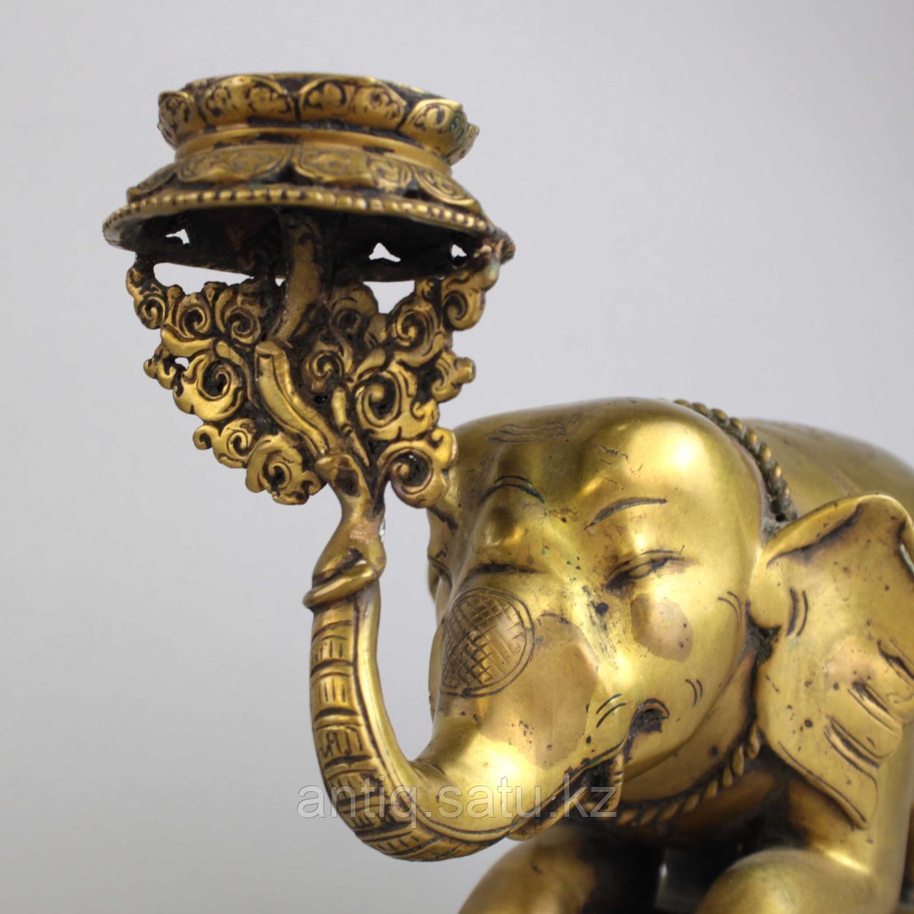"""Пара подсвечников """"Слоны"""" Британская Индия - фото 4"""