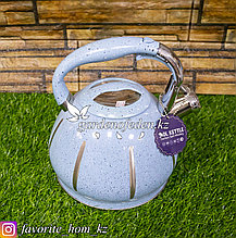 """Чайник для кипячения воды, со свистком """"Haus Roland"""". Материал: Металл. Цвет: Голубой. Объем: 3л."""