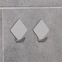 Набор крючков на липучке «Ромб», 2 шт, металлические