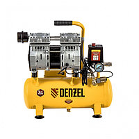 Компрессор DLS650/10 безмаслянный малошумный 650 Вт, 120 л/мин,ресивер 10 л// Denzel, фото 1