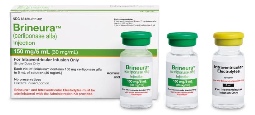Бринейра (Brineura) Церлипоназа альфа (Cerliponase alfa) 150 мг/5 мл (Европа)