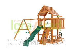 """IgraGrad """"Шато"""" (Дерево) с волновой горкой, веревочной лестницей, песочницей, биноклем."""