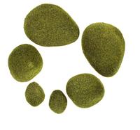 Мох искусственный «Камни», набор 6 шт.