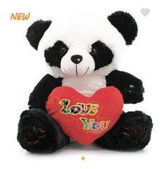 Панда с сердцем 37см
