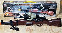 8695 Автомат с солдатом: движение,музыка, свет Shootgun 50*14см, фото 1
