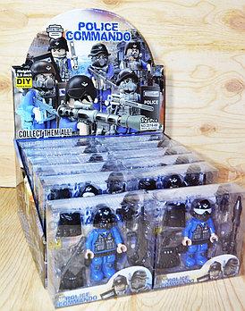 2016-68 Лего спецназ с оружием 6 видов 12шт в уп.,цена за 1шт 12*12см
