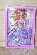 Немного помятая!!! ZR-595 Кукла пышное платья Beautiful Girl 2вида 33*23см, фото 2