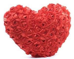 Сердце из роз 60см