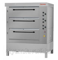 Хлебопекарная ярусная печь ХПЭ-750/3 (нержавеющая облицовка и дверки)