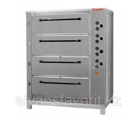 Хлебопекарная ярусная печь ХПЭ-750/4 (нержавеющие облицовка и дверки), фото 2