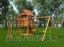 """IgraGrad """"Навигатор"""" (Дерево) с рукоходом, веревочной лестницей, лавочкой-столик."""