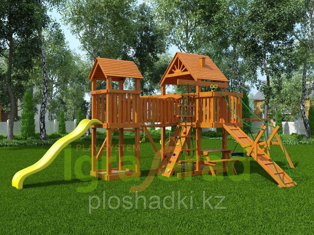 """IgraGrad """"Моряк"""" (Дерево) с деревянной лестницей, трапом, песочницей."""