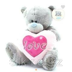 Тедди с сердцем мороженное 24 см