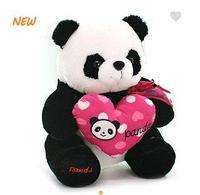 Панда сид. с сердцем 32см