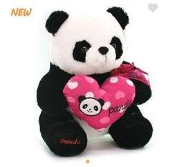 Панда сид. с сердцем 42 см