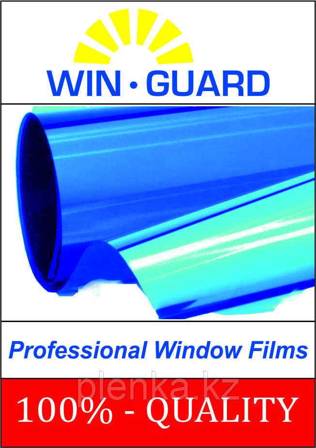 Пленка для тонировки стекол солнцезащитная синяя-зеркальная, пропускание света 15%,, цена за 1 кв.м.