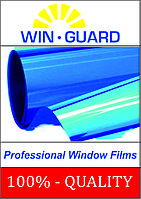 Пленка для тонировки стекол солнцезащитная синяя-зеркальная, пропускание света 15%,, цена за 1 рулон.