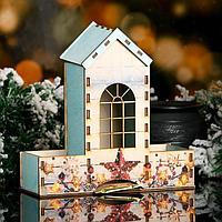 """Чайный домик """"Башенка, со звёздами"""", голубой, 20×20×8,6 см"""