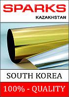 Пленка для тонировки стекол, солнцезащитная золотая-зеркальная, цена за 1 рулон.