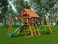 """IgroGrad """"Крепость с рукоходом"""" (Дерево) с качелей """"гнездо"""", рулем, рукоходом, веревочной лестницей., фото 1"""