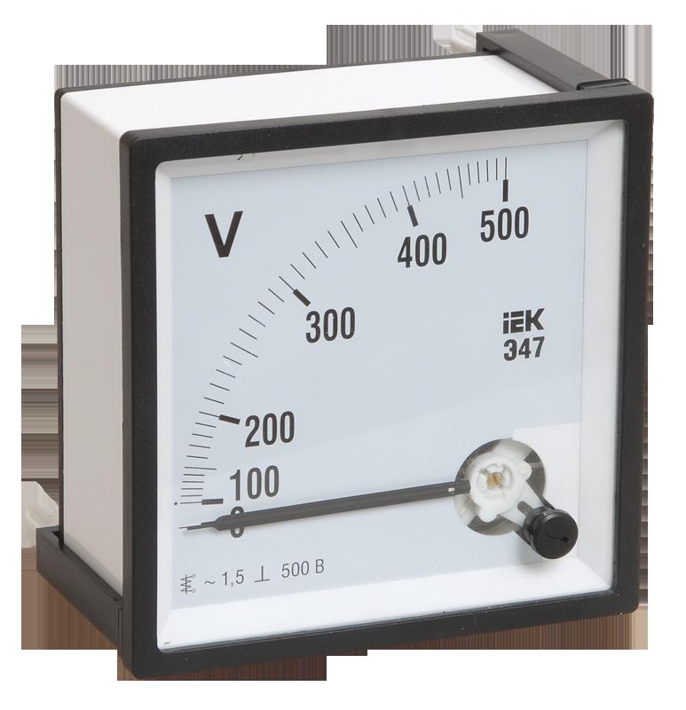 Вольтметр Э47 500В кл.точн. 1,5 72*72мм (ИЭК)