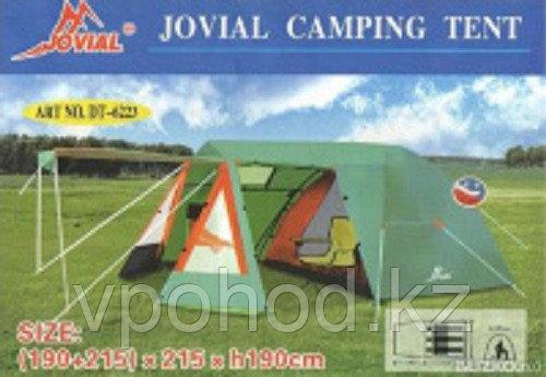 Палатка туристическая 3 местная Jovial 6223, с кухней и навесом