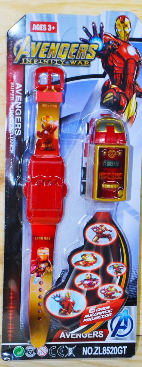 ZL8520 Мстители часы в виде машины с проектором 29/12см