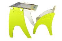 Набор детской мебели: столик-парта-мольберт (трансформер) и стульчик, 2 ростовая группа