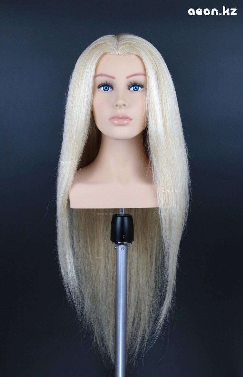 Голова-манекен AEON светло русый волос натуральный (100%) - 75 см - фото 4