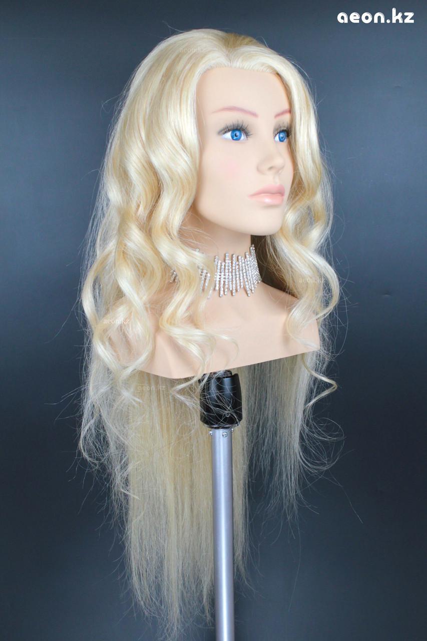 Голова-манекен AEON светло русый волос натуральный (100%) - 75 см - фото 7