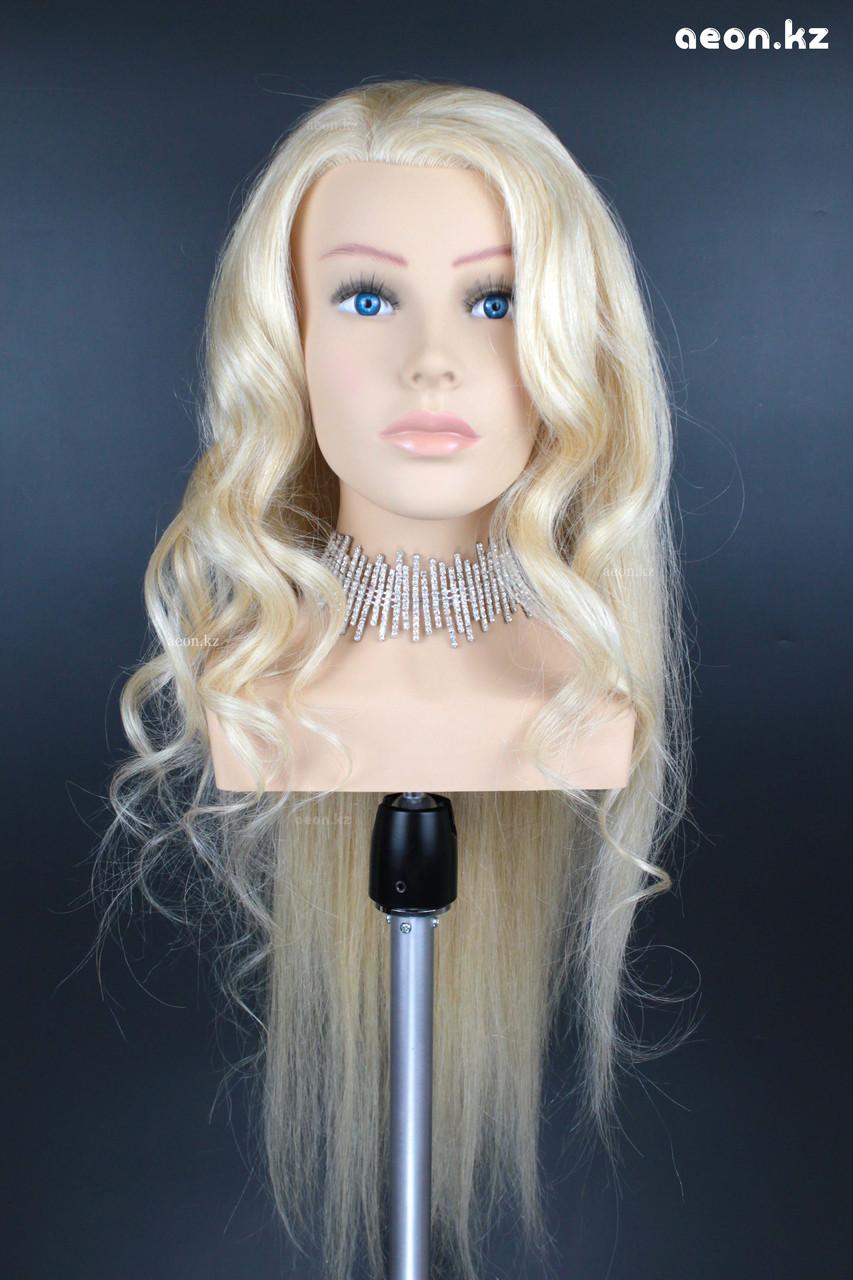 Голова-манекен AEON светло русый волос натуральный (100%) - 75 см - фото 3