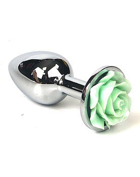Анальная пробка с кристаллом в виде розы «Rose», 28мм