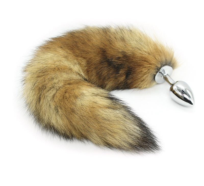 Анальная пробка с хвостиком «Fox»