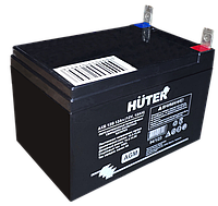 Аккумуляторная батарея АКБ 12В 12Ач Huter, фото 1
