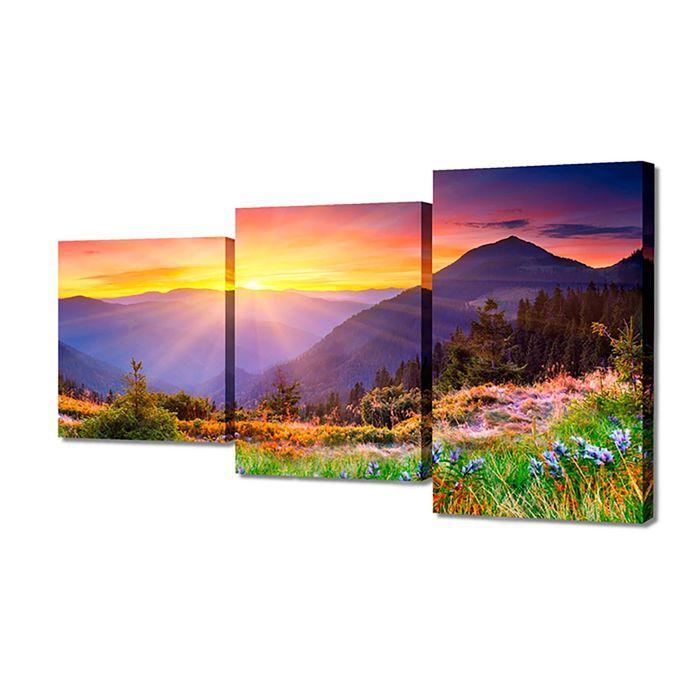 """Модульная картина на подрамнике """"Горы"""", 26×50 см, 26×40 см, 26×32 см, 50×80 см"""