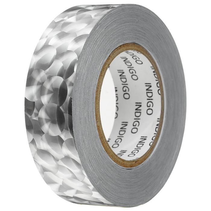 Обмотка для обруча с подкладкой INDIGO 3D BUBBLE 20 мм × 14 м, цвет серебро
