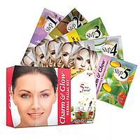 Charm&Glow Herbal Kit - 5 ступенчатый уход за кожей лица, травяной косметический набор для лица