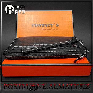 Мужское портмоне-клатч Contacts натуральная бычья кожа 100%, фото 2