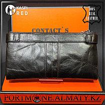 Мужское кошелек, клатч ,бумажник -  натуральная бычья кожа 100%, фото 2