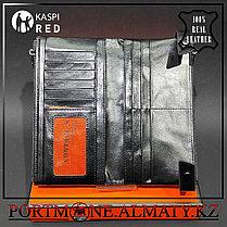 Мужское кошелек, клатч ,бумажник -  натуральная бычья кожа 100%, фото 3