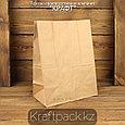 Бумажный крафт пакет, бурый 50гр 220*120*290 (1000шт/уп), фото 2