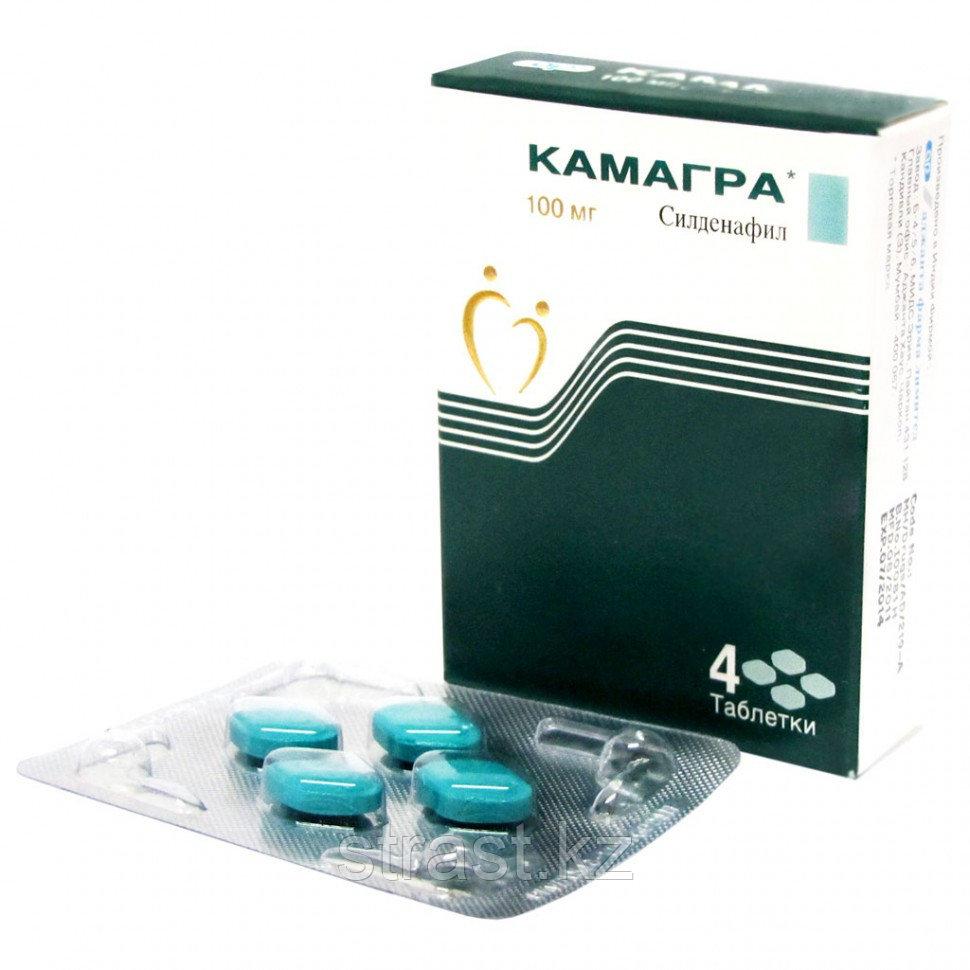 Стимулятор потенции Kamagra-100 Gold (Виагра Силденафил) 4 шт