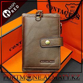 Ключница-портмоне, кошелек, бумажник Contacts  в Алматы , натуральная бычья кожа 100%
