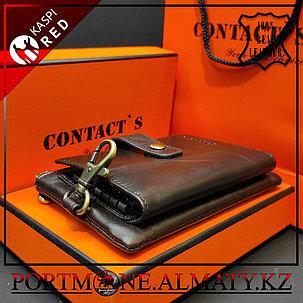 Мужская ключница-портмоне Contacts, 100% натуральна кожа, фото 2