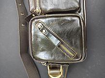 Мужская сумка на пояс Contacts 100 % натуральная кожа, фото 2