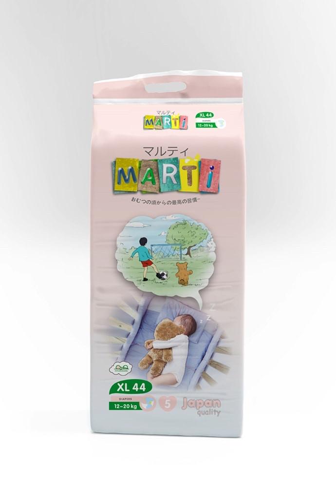 Подгузники MARTI размер XL (12-22кг) 44 штуки