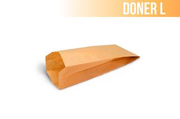 Пакет крафт с плоским дном (Doner L) 100*60*300 (2000шт/уп)
