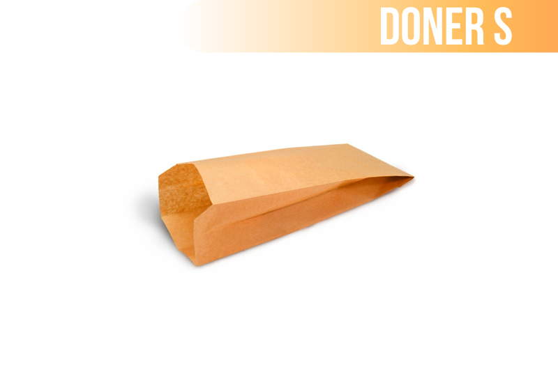 Пакет крафт с плоским дном (Doner S) 90*35*190 (2500шт/уп)